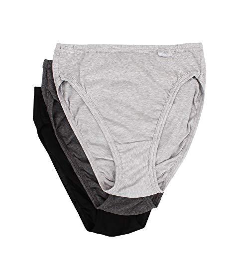 JOCKEY Elance・・ インナー 下着 ナイトウエア レディース 【 Elance・・ French Cut 3-pack 】 Grey Heather/charcoal Grey Heather/black