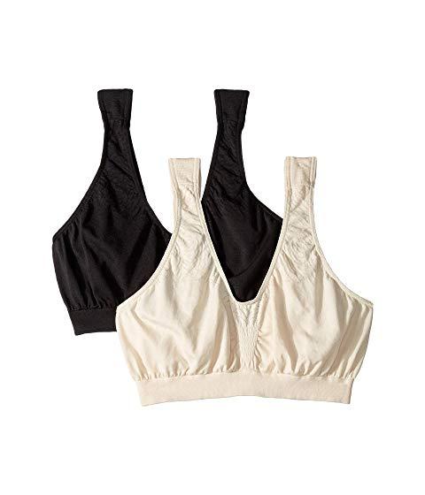 BALI クロップ インナー 下着 ナイトウエア レディース 【 Comfort Revolution Microfiber Crop Bra 2-pair 】 Beige/black