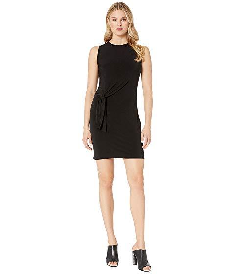 MICHAEL MICHAEL KORS ドレス 黒 ブラック 【 BLACK MICHAEL KORS TIE WAIST CREW NECK DRESS 】 レディースファッション ドレス