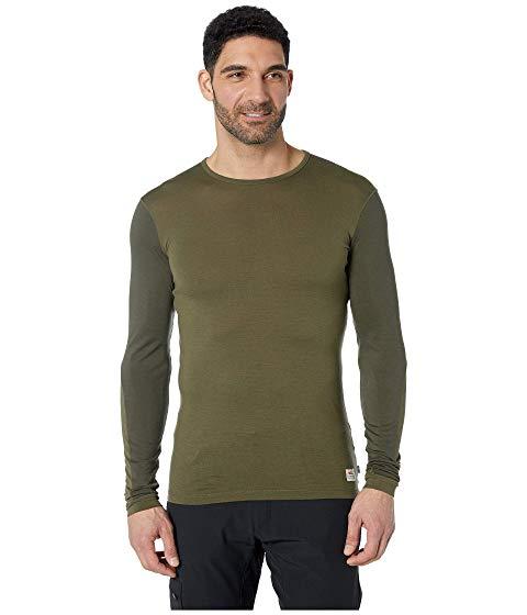 FJ・・LLR・・VEN Tシャツ スリーブ メンズファッション トップス カットソー メンズ 【 Keb Wool T-shirt Long Sleeve 】 Laurel Green/deep Forest