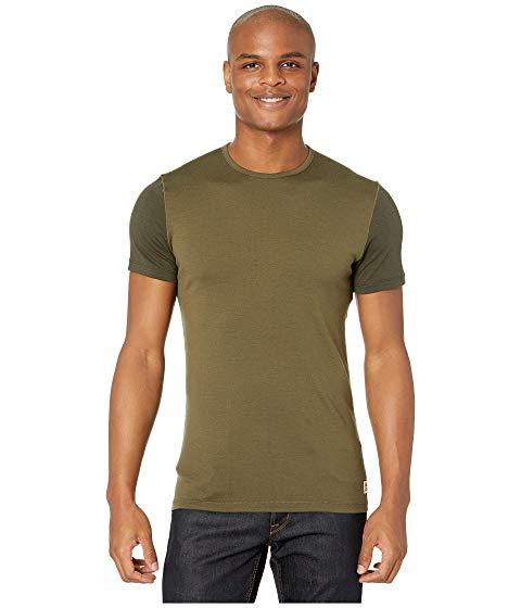 【スーパーセール中! 6/11深夜2時迄】FJ?LLR?VEN Tシャツ メンズファッション トップス カットソー メンズ 【 Keb Wool T-shirt 】 Laurel Green/deep Forest