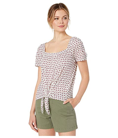 LUCKY BRAND 【 SUPER SOFT PRINTED TIE FRONT TOP PINK MULTI 】 レディースファッション トップス 送料無料