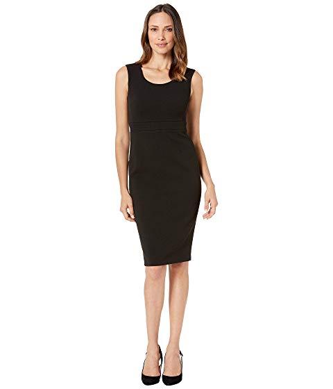 カルバンクライン CALVIN KLEIN ソリッド ドレス 黒 ブラック 【 BLACK CALVIN KLEIN SOLID SHEATH DRESS 】 レディースファッション ドレス