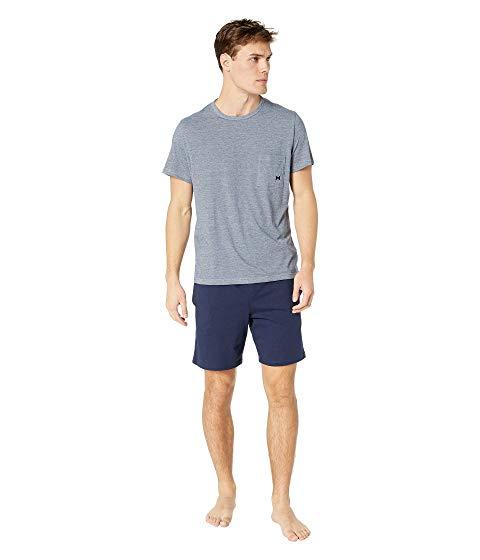 HOM インナー 下着 ナイトウエア メンズ ナイト ルーム 【 Comfort Short Sleepwear 】 Navy