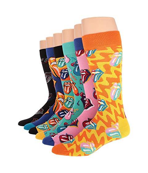 HAPPY SOCKS ボックス インナー 下着 ナイトウエア メンズ 下 レッグ 【 Rolling Stones 6-pack Sock Box Set 】 Multi 1
