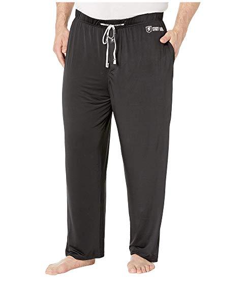 STACY ADAMS インナー 下着 ナイトウエア メンズ ナイト ルーム 【 Big And Tall Sleep Pants 】 Black