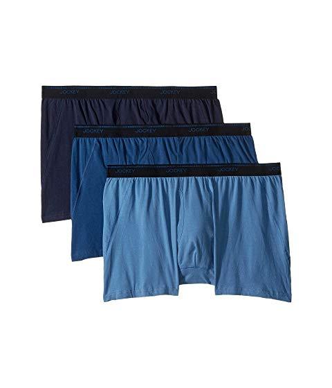 JOCKEY Maxstretch・・ インナー 下着 ナイトウエア メンズ 【 Tailored Essentials Maxstretch・・ Boxer Brief 3-pack 】 True Navy/blue Tranquil/blue Wash