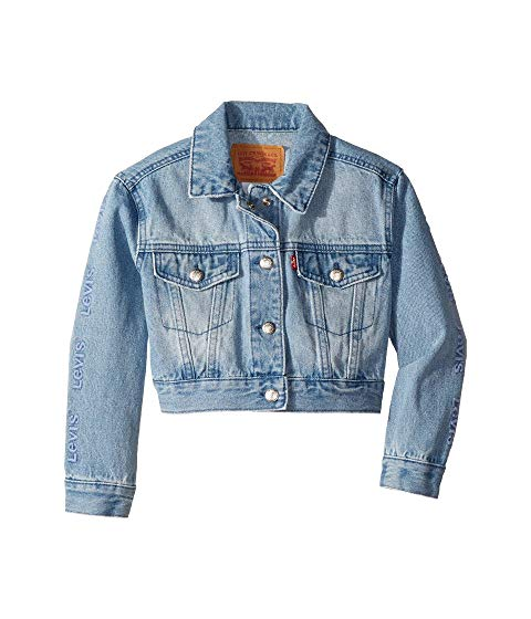 LEVI'S KIDS トラッカー LEVI'S 【 KIDS OVERSIZED CROPPED TRUCKER JACKET LITTLE HUNTLEY 】 キッズ ベビー マタニティ コート