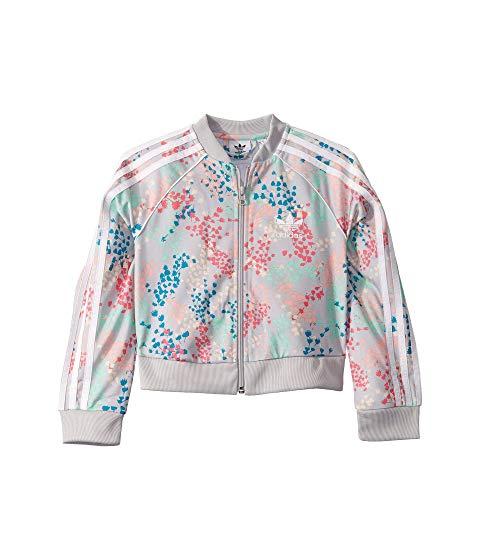 アディダスオリジナルスキッズ ADIDAS ORIGINALS KIDS クロップ スーパースター キッズ ベビー マタニティ コート ジュニア 【 Flower Crop Superstar Jacket (little Kids/big Kids) 】 Multicolor/white