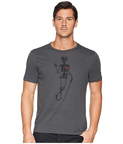 JOHN VARVATOS STAR U.S.A. グラフィック Tシャツ メンズファッション トップス カットソー メンズ 【 Skeleton Peace Graphic T-shirt 】 Coal