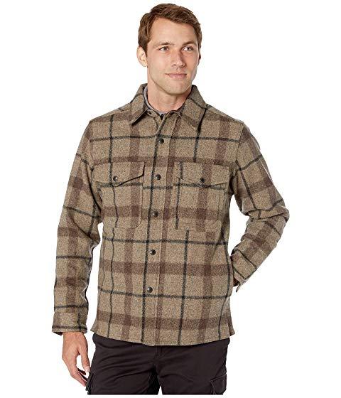 FILSON 【 MACKINAW JAC SHIRT TAUPE BROWN BLACK 】 メンズファッション トップス カジュアルシャツ 送料無料