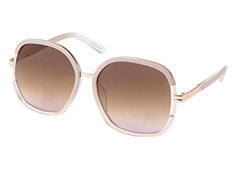 JESSICA SIMPSON メタル 【 JESSICA SIMPSON ROUND VENT GLAM METAL BRIDGE NUDE CRYSTAL 】 バッグ  眼鏡