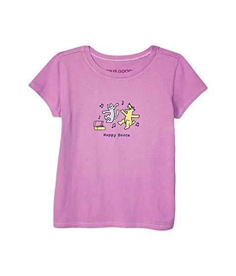 LIFE IS GOOD KIDS ダンス ニット Tシャツ 【 HAPPY DANCE CRUSHER KNIT TEE LITTLE BIG GRAPE 】 キッズ ベビー マタニティ トップス 送料無料