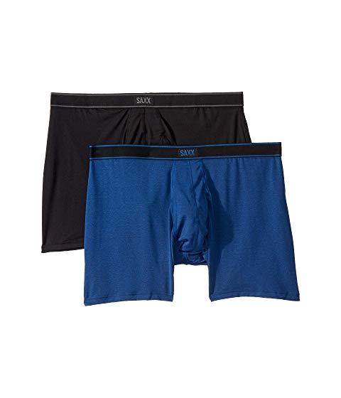 SAXX UNDERWEAR インナー 下着 ナイトウエア メンズ 【 Daytripper Boxer Brief Fly 2-pack 】 Black/city Blue Heather