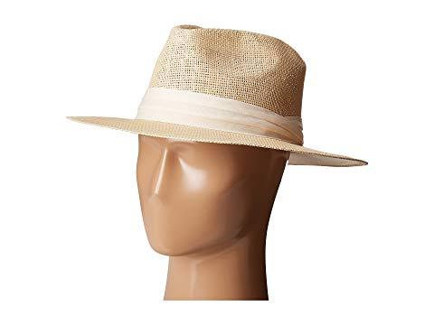 SAN DIEGO HAT COMPANY ウーブン ナチュラル 【 WOVEN SAN DIEGO HAT COMPANY PBF7308 PAPER FEDORA WITH TWILL TRIM NATURAL 】 バッグ  キャップ 帽子 メンズキャップ 帽子