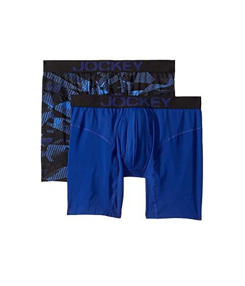 JOCKEY インナー 下着 ナイトウエア メンズ 【 Athletic Rapidcool Midway Brief 2-pack 】 Fusion/prussian Blue