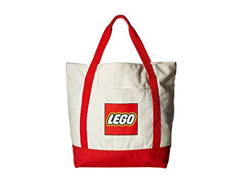LEGO キッズ ベビー マタニティ バッグ ランドセル ジュニア 【 Canvas Tote 】 White