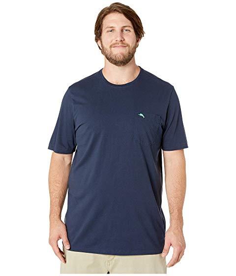 TOMMY BAHAMA BIG & TALL Tシャツ 青 ブルー & 【 BLUE TOMMY BAHAMA BIG TALL NEW BALI SKYLINE TSHIRT NOTE 】 メンズファッション トップス Tシャツ カットソー
