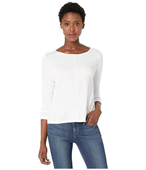 LILLA P 【 SEAMED BOAT NECK TEE WHITE 】 レディースファッション トップス Tシャツ カットソー 送料無料
