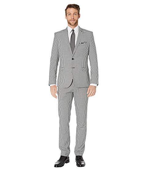 NICK GRAHAM メンズファッション スーツ セットアップ メンズ 【 Gingham Plaid Suit 】 Black/white Gingham