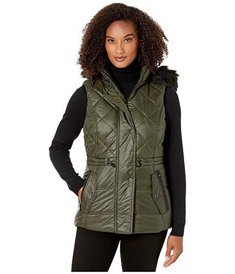 【★スーパーセール中★ 6/11深夜2時迄】MICHAEL MICHAEL KORS ベスト レディース 【 Active Vest With Faux Fur Trim Hood A421030tz 】 Olive