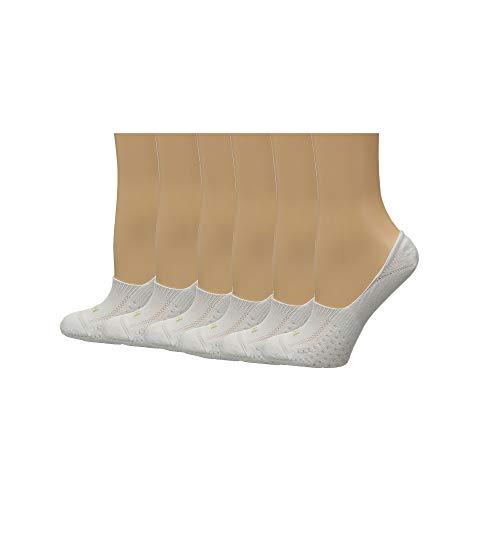 HUE エア インナー 下着 ナイトウエア レディース 下 レッグ 【 Air Cushion 6-pair Pack Liner 】 White/white