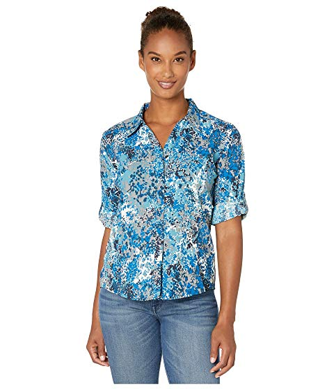 ROYAL ROBBINS 【 EXPEDITION PRINT 3 4 SLEEVE FROST BLUE 】 レディースファッション トップス 送料無料