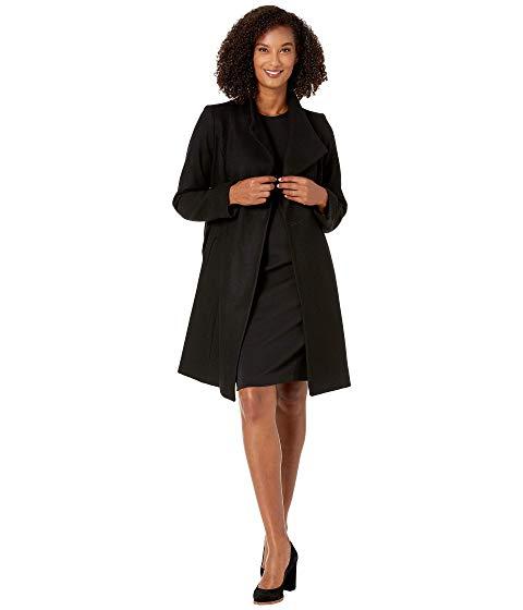 【★スーパーセール中★ 6/11深夜2時迄】MICHAEL MICHAEL KORS ベルト レディース 【 Asymmetric Wool Coat With Belt Coat M123890tz 】 Black