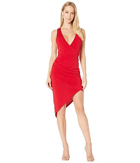 ビーシービージェネレーション BCBGENERATION ドレス 赤 レッド 【 RED BCBGENERATION COCKTAIL SHIRRED ASYMMETRICAL DRESS JESTER 】 レディースファッション ドレス