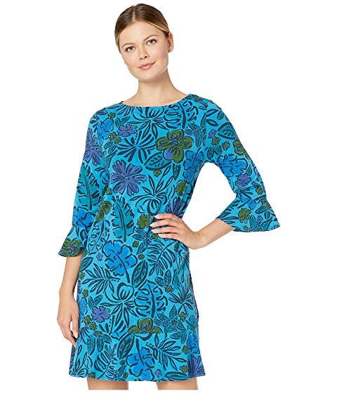 FRESH PRODUCE フレッシュ ドレス 青 ブルー 【 BLUE FRESH PRODUCE SKETCHED FLORA KIRA DRESS SEAPORT 】 レディースファッション ドレス