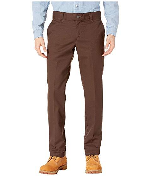 ディッキーズ DICKIES コレクション スリム 茶 ブラウン 【 SLIM BROWN DICKIES 67 COLLECTION FIT INDUSTRIAL WORK PANTS CHOCOLATE 】 メンズファッション ズボン パンツ