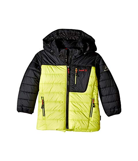 KAMIK KIDS 【 VAN QUILTED RIPSTOP JACKET INFANT TODDLER LITTLE BIG LEAF BLACK FEUILLE NOIR 】 キッズ ベビー マタニティ コート 送料無料