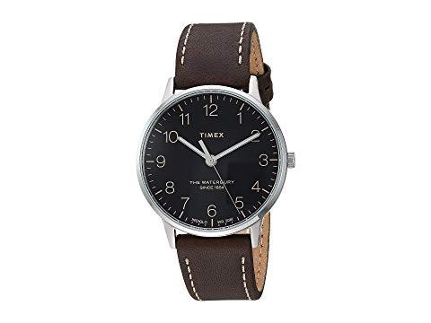 TIMEX タイメックス クラシック レザー 黒 ブラック 茶 ブラウン 【 BLACK BROWN TIMEX 40 MM WATERBURY CLASSIC LEATHER 】 腕時計 メンズ腕時計