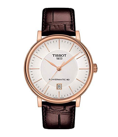 TISSOT プレミアム 銀色 シルバー 【 PREMIUM SILVER TISSOT TCLASSIC CARSON POWERMATIC 80 T1224073603100 】 腕時計 メンズ腕時計