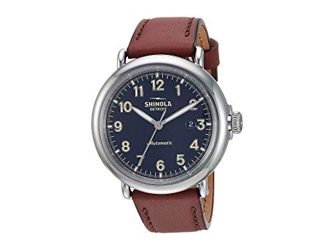 SHINOLA DETROIT デトロイト 青 ブルー 【 BLUE SHINOLA DETROIT RUNWELL AUTOMATIC 20141492 MIDNIGHT GLOSSY ENAMEL DIAL 】 腕時計 メンズ腕時計