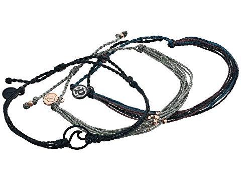 PURA VIDA ウェーブ ウェイブ ブレスレット ジュエリー アクセサリー レディースジュエリー レディース 【 Dark Wave 3-pack Bracelet 】 Black
