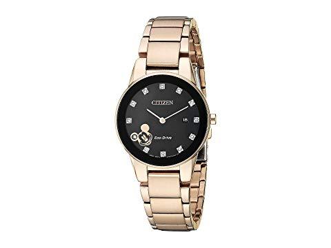 シチズンウオッチ CITIZEN WATCHES ローズ 金色 ゴールド 【 ROSE CITIZEN WATCHES MICKEY MOUSE GA105654W GOLD TONE 】 腕時計 レディース腕時計