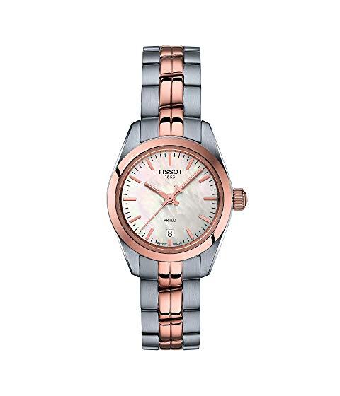 TISSOT ローズ 金色 ゴールド 銀色 シルバー 【 ROSE SILVER TISSOT PR 100 LADY SMALL T1010102211101 GOLD 】 腕時計 レディース腕時計