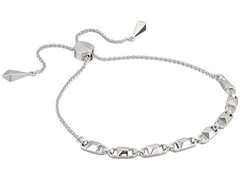 MICHAEL KORS 銀色 シルバー ブレスレット ジュエリー アクセサリー レディースジュエリー レディース 【 Precious Metal-plated Sterling Silver Mercer Link Slider Bracelet 】 Silver