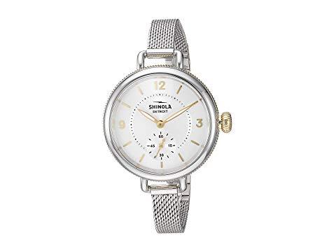 SHINOLA DETROIT デトロイト 銀色 シルバー ブレスレット 【 SILVER SHINOLA DETROIT THE BIRDY 34MM 20121838 MESH BRACELET 】 腕時計 レディース腕時計