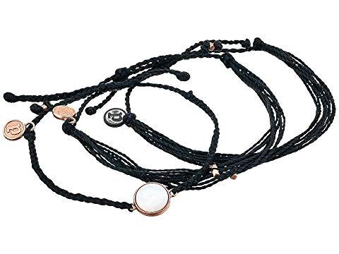 PURA VIDA パール ブレスレット ジュエリー アクセサリー レディースジュエリー レディース 【 Pearl 3-pack Bracelet 】 Black