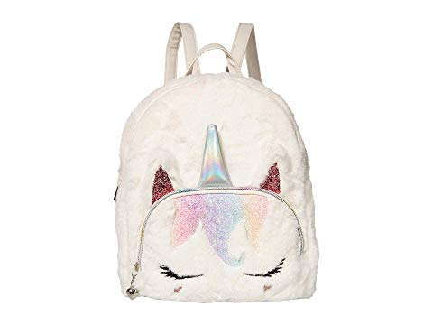 OMG! ACCESSORIES バックパック バッグ リュックサック キッズ ベビー マタニティ ランドセル ジュニア 【 Sugar Glitter Plush Mini Backpack 】 White