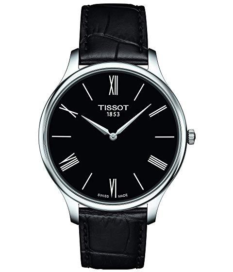 TISSOT 黒 ブラック 銀色 シルバー 【 BLACK SILVER TISSOT TRADITION T0634091605800 】 腕時計 メンズ腕時計
