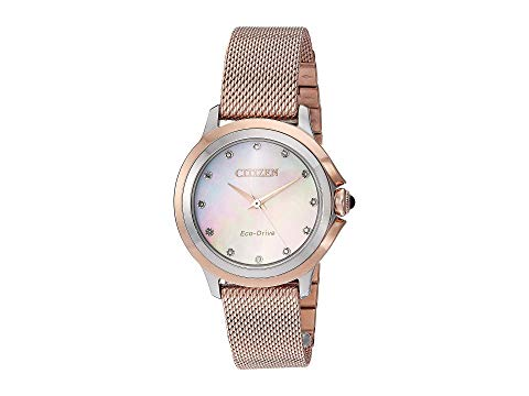 シチズンウオッチ CITIZEN WATCHES ピンク 【 PINK CITIZEN WATCHES EM079675D CECI GOLDTONE 】 腕時計 レディース腕時計