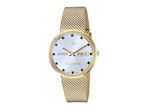 MIDO コマンダー 金色 ゴールド ブレスレット 銀色 シルバー 【 SILVER MIDO COMMANDER GOLD MILANESE BRACELET M842932113 】 腕時計 メンズ腕時計
