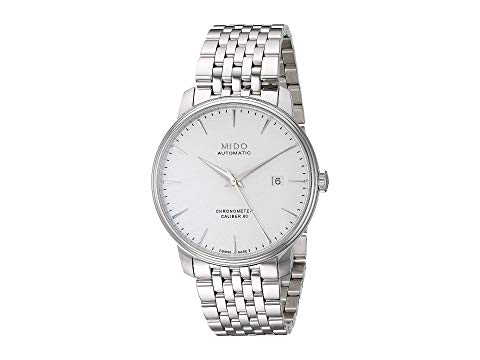 MIDO ステンレス 銀色 スチール ブレスレット 白 ホワイト 【 WHITE MIDO BARONCELLI COSC CHRONOMETER WITH STAINLESS STEEL BRACELET M0274081103100 】 腕時計 メンズ腕時計