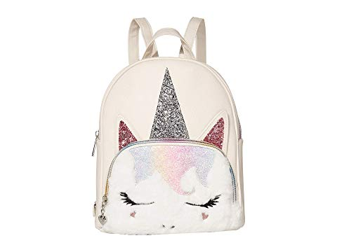 OMG! ACCESSORIES バックパック バッグ リュックサック 白 ホワイト OMG! 【 WHITE ACCESSORIES SUGAR GLITTER UNICORN MINI BACKPACK 】 キッズ ベビー マタニティ バッグ ランドセル バックパック