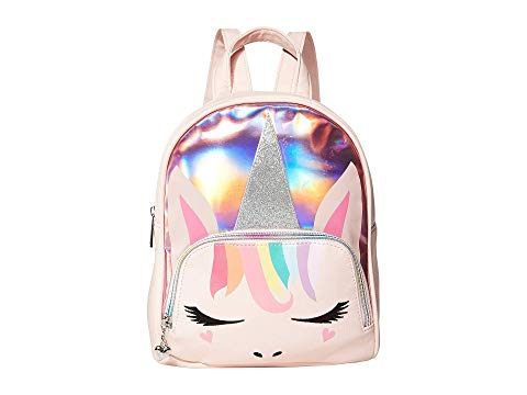 OMG! ACCESSORIES バックパック バッグ リュックサック キッズ ベビー マタニティ ランドセル ジュニア 【 Pastel Hologram Unicorn Mini Backpack 】 Pink