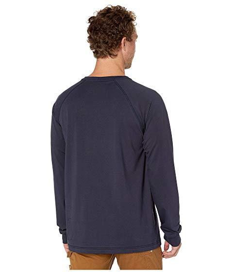 カーハート CARHARTT スリーブ Tシャツ メンズファッション トップス カットソー メンズ 【 Flame-resistant (fr) Force Long Sleeve T-shirt 】 Dark Navy