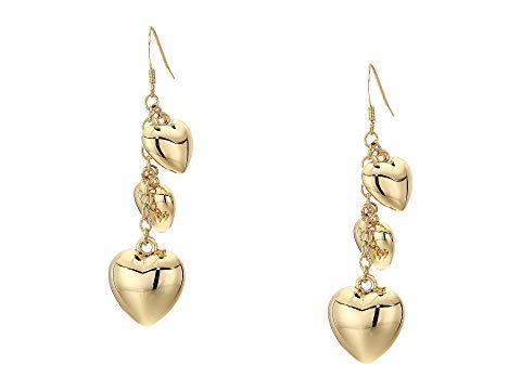 KENNETH JAY LANE 金色 ゴールド 【 KENNETH JAY LANE GOLD CHAIN WITH 3 HEART DROPS FISHHOOK EARRINGS 】 ジュエリー アクセサリー レディースジュエリー